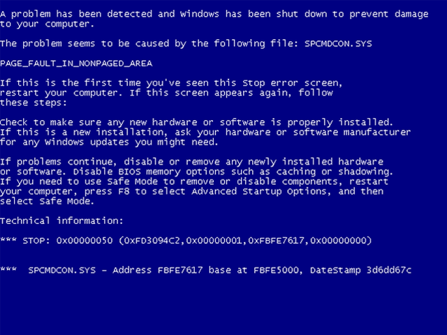 Camp Blue Screen Of Death